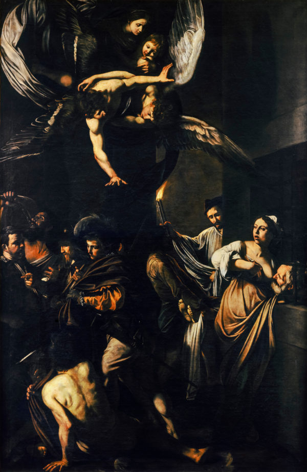 Caravaggio, The Seven Works of Mercy, painting, 1606-1607